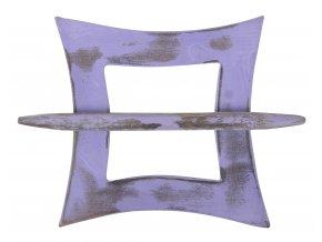 Dekorační ozdobná spona na záclony z přírodního dřeva ARUN, fialová 12x12 cm Mybesthome