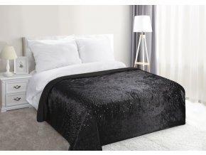 Luxusní přehoz na postel BLACK, černá, 220x240 cm Mybesthome
