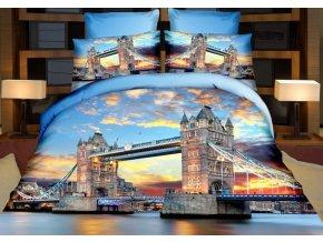 Povlečení TOWER BRIDGE 3D francouzské povlečení, 1x 200x220 cm, 2x povlak 70x80 cm, MyBestHome