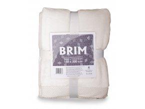 Luxusní deka z mikrovlákna s ozdobným lemováním BRIM smetanová 150x200 cm Essex