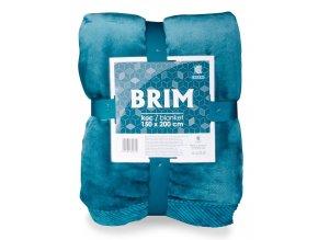 Luxusní deka z mikrovlákna s ozdobným lemováním BRIM modrá 150x200 cm Essex