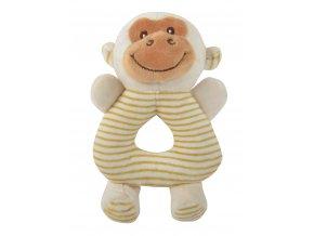 Dětské plyšové chrastítko SWEET RATTLE opička 10x17 cm Essex