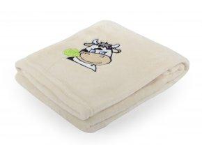 Dětská deka s výšivkou MILLY kravička 75x100 cm Essex