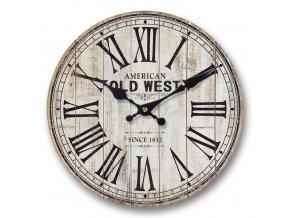 Nástěnné hodiny OLD WEST 34x4 cm Mybesthome