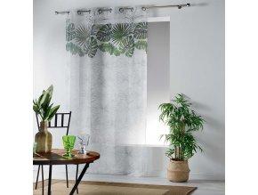 Dekorační záclona se vzorem s kroužky 140x240 cm MyBestHome