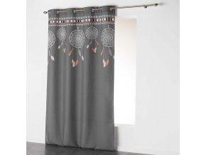 Dekorační závěs DREAM CATCHER - LAPAČ SNŮ šedá/natur 140x260 cm MyBestHome