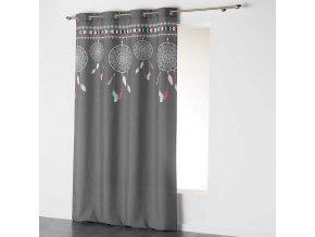 Dekorační závěs DREAM CATCHER - LAPAČ SNŮ šedá/mátová 140x260 cm MyBestHome