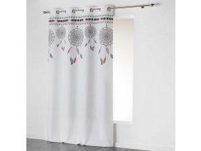 iDekorační závěs DREAM CATCHER - LAPAČ SNŮ bílá/mátová 140x260 cm MyBestHome
