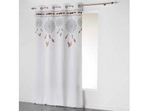 Dekorační závěs DREAM CATCHER - LAPAČ SNŮ bílá/natur 140x260 cm MyBestHome