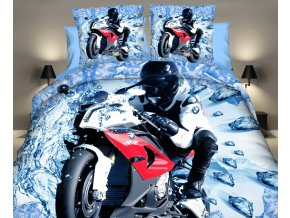 Povlečení MOTORKA BMW 3D set 3 ks, 1x 160x200 cm, 2x povlak 70x80 cm MyBestHome
