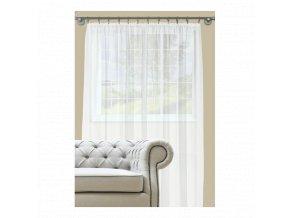Dekorační záclona s řasící páskou DIANA bílá 290x245 cm MyBestHome