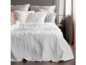 Luxusní přehoz na postel RODOLFO krémová 220x240 cm Mybesthome