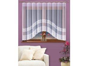 Dekorační oblouková krátká záclona EUFRAT bílá 300x150 cm MyBestHome