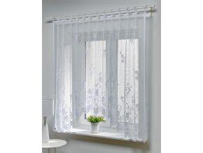 Dekorační oblouková krátká záclona ROZA bílá 300x150 cm MyBestHome
