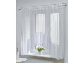 Dekorační oblouková krátká záclona PROSTA bílá 300x150 cm MyBestHome