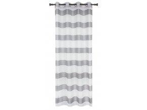 Dekorační vzorovaná záclona NOVA šedá 140x250 cm MyBestHome