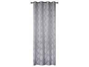 Dekorační vzorovaná záclona KARO šedá 140x250 cm MyBestHome
