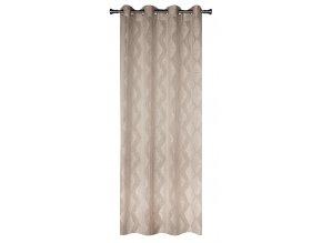 Dekorační vzorovaná záclona KARO béžová 140x250 cm MyBestHome