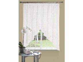Dekorační oblouková krátká záclona MALWINA bílá 290x160 cm MyBestHome