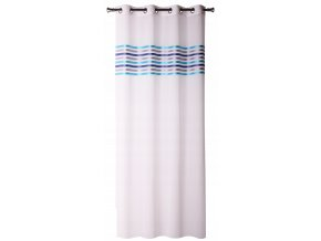 Dekorační vzorovaná záclona FRESH modrá/tyrkys/šedá 140x250 cm MyBestHome