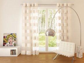 Dekorační vzorovaná záclona FLORENCE smetanová 140x250 cm MyBestHome