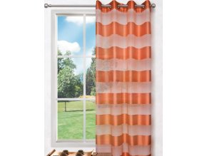 Dekorační vzorovaná záclona FLORENCE oranžová 140x250 cm MyBestHome