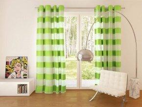 Dekorační vzorovaná záclona FLORENCE zelená 140x250 cm MyBestHome