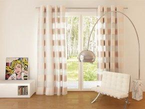 Dekorační vzorovaná záclona FLORENCE béžová 140x250 cm MyBestHome