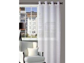 Dekorační síťovaná vzorovaná záclona PESCA bílá 140x250 cm MyBestHome