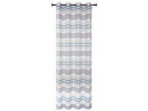 Dekorační vzorovaná záclona PRADO modrá 140x250 cm MyBestHome