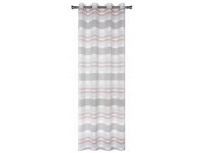 Dekorační vzorovaná záclona PRADO růžová 140x250 cm MyBestHome