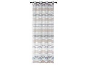 Dekorační vzorovaná záclona PRADO šedá 140x250 cm MyBestHome