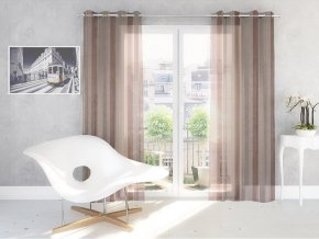 Dekorační vzorovaná záclona ROMEO čokoládová 140x250 cm MyBestHome
