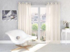 Dekorační vzorovaná záclona ROMEO smetanová 140x250 cm MyBestHome