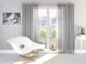Dekorační vzorovaná záclona ROMEO stříbrná 140x250 cm MyBestHome