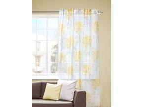Dekorační záclona KLIWIA žlutá 140x245 cm MyBestHome