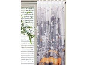 Dekorační záclona NEW YORK TAXI 140x245 cm MyBestHome
