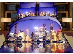 Povlečení 3D MODERN CITY set 4 ks, francouzské povlečení, 1x 200x220 cm, 2x povlak 70x80 cm, prostěradlo 200x220 cm MyBestHome