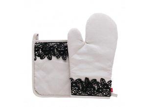 Kuchyňská rukavice/chňapka MAMAN, 18x30 cm/20X20 cm HOME & YOU, 100% bavlna