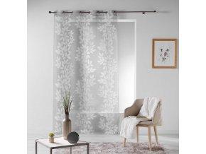 Dekorační záclona LEAVES se vzorem s kroužky 140x240 cm MyBestHome