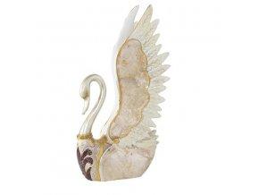 SCHWAN dekorativní soška zlatá 13x7x24 cm Mybesthome