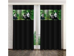 3D dekorační závěs PANDA černá 1x160x250 cm MyBestHome