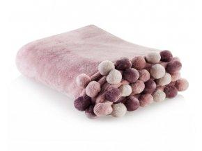 Deka z mikrovlákna PONNIE 150x200 cm růžová HOME & YOU