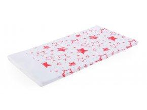 Utěrka STARS bílá/červená, mikrovlákno 38x63 cm, Essex