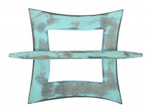 Dekorační ozdobná spona na záclony z přírodního dřeva ARUN, mátová 12x12 cm Mybesthome