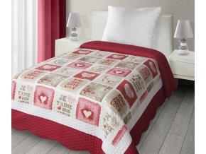 Přehoz na postel RED LOVE 170x210 cm Mybesthome