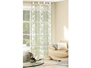 Dekorační vzorovaná záclona FARNA krémová, 140x250 cm MyBestHome