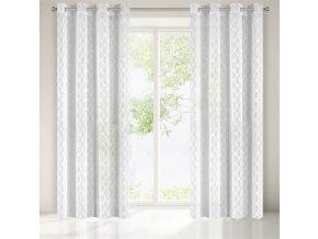 Dekorační vzorovaná záclona ESTEFANI, natur, 140x250 cm MyBestHome