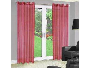 Dekorační záclona s kroužky YOSELIN červená 140x250 cm MyBestHome