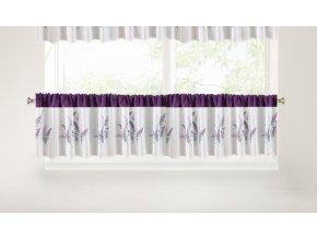 Krátký dekorační závěs - vitrážka LETTRE 30x150 cm MyBestHome